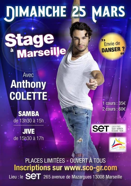 Workshop Anthony Colette - INSCRIPTIONS